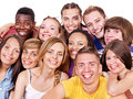 Group people happy on isolated Royalty Free Stock Photo