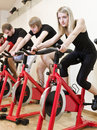 Group of people having spinning class Royalty Free Stock Photography