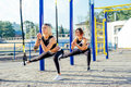 Group Of People Having Trx Tra...