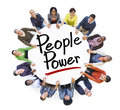 Group of People Holding Hands Around People Power Royalty Free Stock Photo