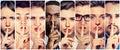 Di maschi donne dito su labbra