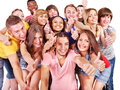 Group people multi ethnic isolated Stock Photos
