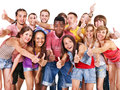 Group people multi ethnic isolated Royalty Free Stock Image