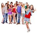 Group people multi ethnic isolated Stock Image