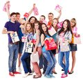 Group people on party. Royalty Free Stock Photos