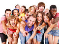 Group people point. Royalty Free Stock Photos