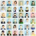 Group people portrait illustrations Royalty Free Stock Photo