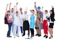 Group of people representing diverse professions large including Royalty Free Stock Images