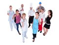 Group of people representing diverse professions large including Royalty Free Stock Photos