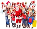 Group people and  Santa. Stock Image
