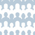 Group of people seamless pattern Royalty Free Stock Photo