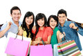 Group of people shopping Royalty Free Stock Photography