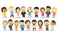 Group of people singing illustration different nationalities Royalty Free Stock Images