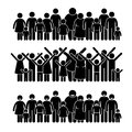 Group of people standing community cliparts a set human pictogram representing a and working towards a Stock Photo