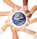 Group of people with their hands together Royalty Free Stock Photos