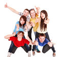 Group people with thumbs up. Royalty Free Stock Images