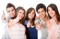 Group of people with thumbs up Stock Images