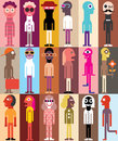 Group of people vector illustration large Royalty Free Stock Photo