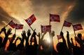 Group Of People Waving Norwegi...