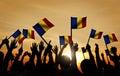 Group Of People Waving Romania...