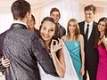 Group people at wedding dance happy Stock Photography