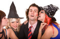 Group of people in  witch costume. Stock Images