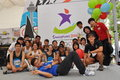 Group photo during Youth Olympic Games logo launch Royalty Free Stock Photography