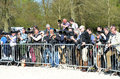 Group of photographers press at badminton horse trials Royalty Free Stock Images