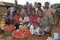 Group portrait female market vendors, Ghana Royalty Free Stock Photo