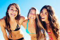 Group of Pretty Girls in Bikinis, Best Friends Royalty Free Stock Photo