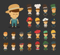 Group of professions cartoon characters eps vector format Royalty Free Stock Images