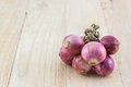 Group of red onion. Royalty Free Stock Photo