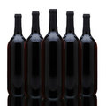 Group of Red Wine Bottles Royalty Free Stock Photo
