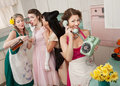 Group Of Retro Housewives Stock Image