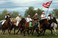 Group of riders making a demonstration Royalty Free Stock Photo