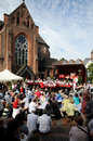 Group  Ruhlandbuehne -   Street Parade in Bochum Royalty Free Stock Photos