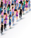 Group running people Royalty Free Stock Photo