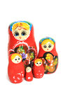 Group of Russian Doll  Royalty Free Stock Image