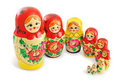 Group of Russian Dolls Stock Photos