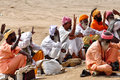 Group sadhu holy men performing rituals temple Royalty Free Stock Photos