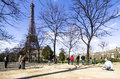 group of senior men playing petanque in the park . Paris, France Royalty Free Stock Photo