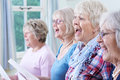 Group Of Senior Women Singing In Choir Together Royalty Free Stock Photo