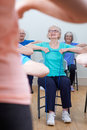 Group Of Seniors Using Resistance Bands In Fitness Class Royalty Free Stock Photo