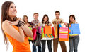 Group of shoppers Stock Photo