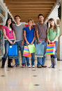 Group of shopping people Royalty Free Stock Image