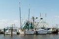Group Shrimp Boats at Dock USA Gulf Coast Royalty Free Stock Photo