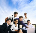 A group of six business persons at work Royalty Free Stock Photography