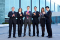 A group of six young businesspersons Royalty Free Stock Image