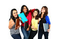 Group of smiling female friends/students. Royalty Free Stock Photo