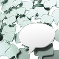 Group of speech text bubbles Royalty Free Stock Images